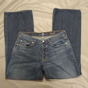 7FAM relaxed fit button fly jeans 31x29.5